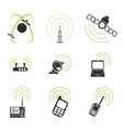 Radio signal simple icons vector image