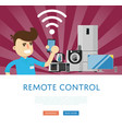 remote control for household appliances concept vector image