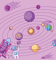solar system galaxy astronomy universe vector image