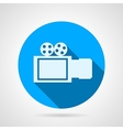 Video camera sign flat icon vector image