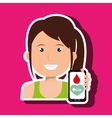 woman crooss smartphone graphic vector image