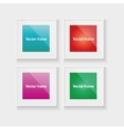 Square frames set with colorful abstract vector image