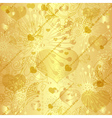 Seamless gold valentine pattern vector image