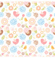 Summer lovely floral seamless pattern vector image vector image
