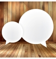 Speech bubble on wooden EPS 10 vector image