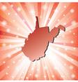Red West Virginia vector image