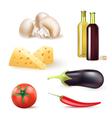 wine vegetables vector image vector image