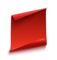 Red curved paper scroll vector image