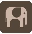 elephant grey icon vector image vector image