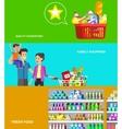 Shop supermarket flat vector image