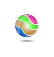 Glossy Ball Logo Icon vector image vector image