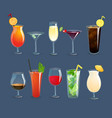 Drinks Glasses Set vector image