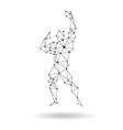 Geometric bodybuilder design silhouette vector image