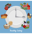 Healthy eating food plate vector image