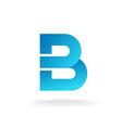 Letter B logo template Construction building vector image