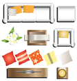 Living room furniture top view set 11 for interior vector image
