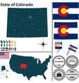 Map of Colorado vector image