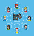 shared depository concept with group of people vector image