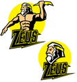 zeus god mascot vector image