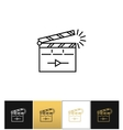 Film clapping clap board or clapperboard vector image