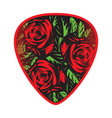 color template for design plectrum with vector image