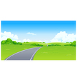 Curved Road green landscape vector image vector image