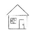 figure nice house with architecture design icon vector image