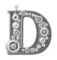 Mechanical alphabet vector image vector image
