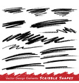Scribble Smears Hand Drawn in Pencil vector image