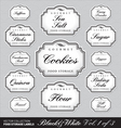 ornate food storage labels vol1 vector image