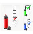voting paper color pen vector image