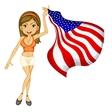 american woman vector image