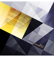 abstract blue and yellow background vector image