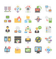 cloud computing icons set 5 vector image