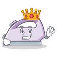 king flat iron character art vector image