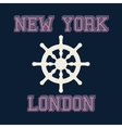 new york london typography t-shirt graphics vector image