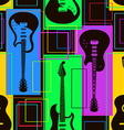 Seamless pattern of guitars vector image
