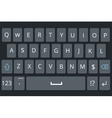 Smartphone keyboard mobile phone keypad vector image