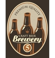 label for beer vector image vector image
