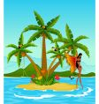 girl on tropical island vector image vector image
