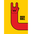 Hand rock and roll sign Poster for rock festival vector image