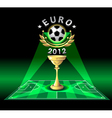 cup of euro 2012 or demonstration football vector image vector image
