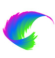 abstract colorful rainbow wave background vector image