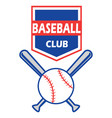 baseball badge vector image