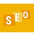 Concept SEO letters vector image