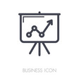 flip-chart outline icon business sign vector image