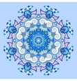 mandala blue circle decorative spiritual indian vector image