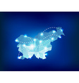 Slovenia country map polygonal with spot lights vector image