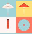 traditional umbrella vector image
