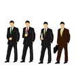 Set of businessmen vector image